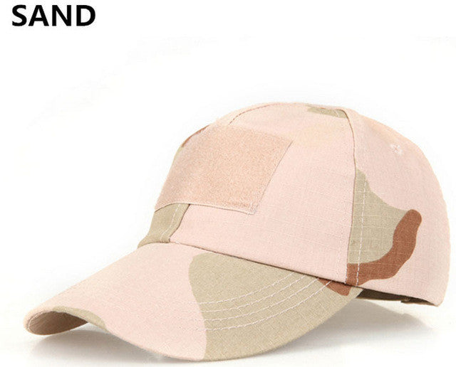 Outdoor Military Hats Camouflage Tactical Army Fan Bionic Camping Hiking Cap Cadet Army Fan Outdoor Sports Cap CP ACU ATACS
