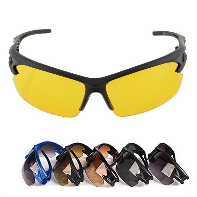 UV Protective Hiking Goggles Night Vision Eyewear Sunglasses Professional Sport Sun Fishing Driving Bicycle Cycling Men Outdoor