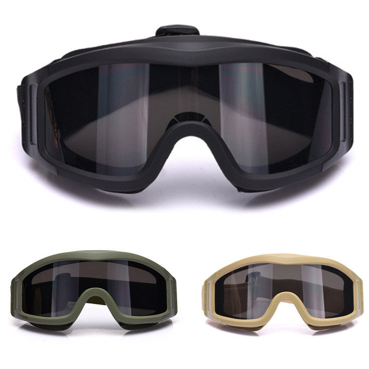 Military Airsoft Tactical Goggles Safety Glasses Combat Goggles 3 Interchangeable Anti-Fog tactical goggles