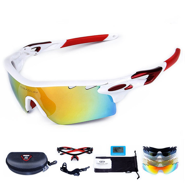 UV400 Polarized Ski Goggles COOL Sport Glasses for Motorcycle Snowboard Men Professional Eyewear Sunglasses Googles Case +4 Lens