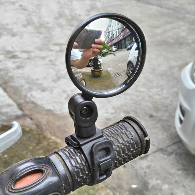 Handlebar Adjustable Convex Mirror Cycling Universal Rear View MTB 360C Rotate Wide Range Bicycle Rearview Bisiklet Ayna PA0087