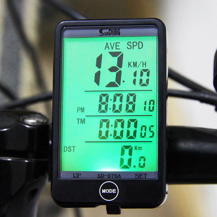 SD - 576A Portable Bicycle Computer Waterproof Bicycle Odometer Light Mode Touch Wired Cycling Speedometer With LCD Backlight
