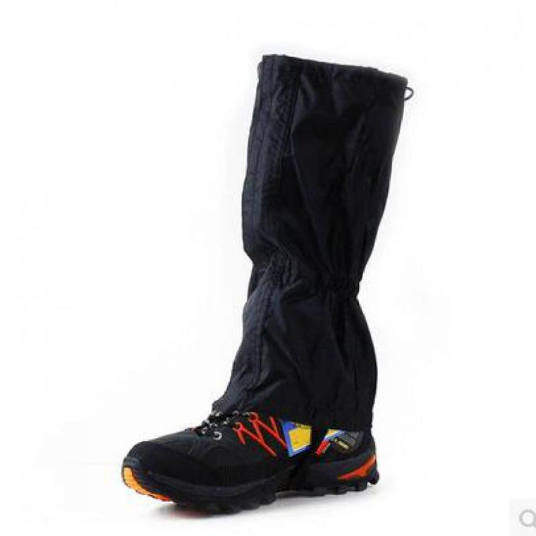 Outdoor Hiking Walking Climbing Hunting Snow Legging Gaiters Ski Gaiters Brand New 1 Pair Waterproof Black