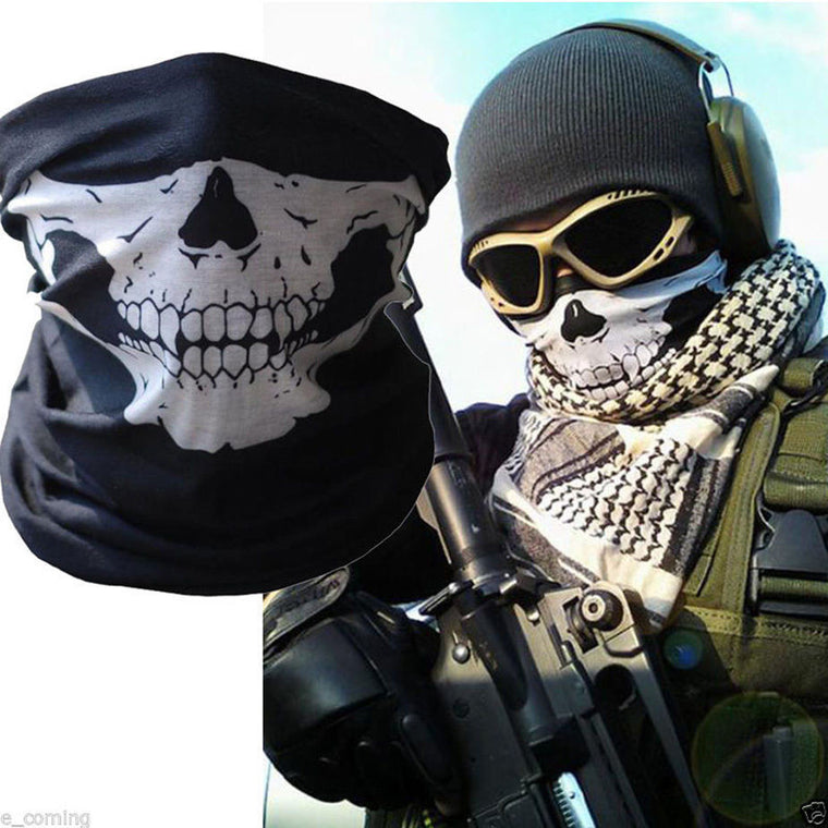 2PCS  air force Skull Tubular Protective Dust Mask Bandana Motorcycle Polyester Scarf Face Neck Warmer Mask free shipping cs