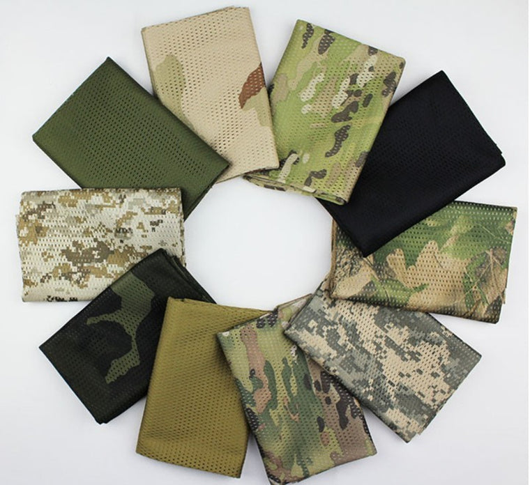 Tactical  Active Camouflage Mesh Scarf  Military Veil Sniper Cover Neckerchief