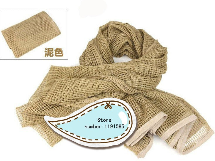 Sand Color scarf face veil for hunting airsoft ski multi prupose scrim scarves 65% Polyester+35% Baumwolle 190X90cm
