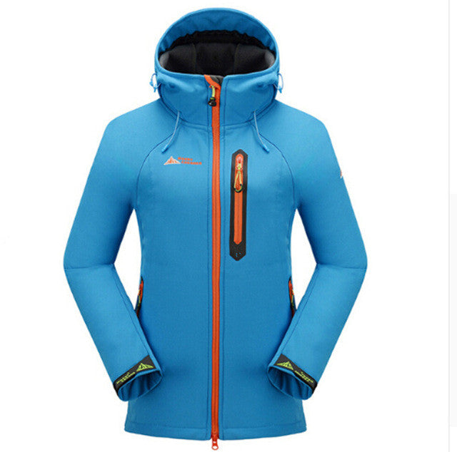 Hot / winter women outdoor sports brand mountaineering camping waterproof breathable jacket two-piece ski suit