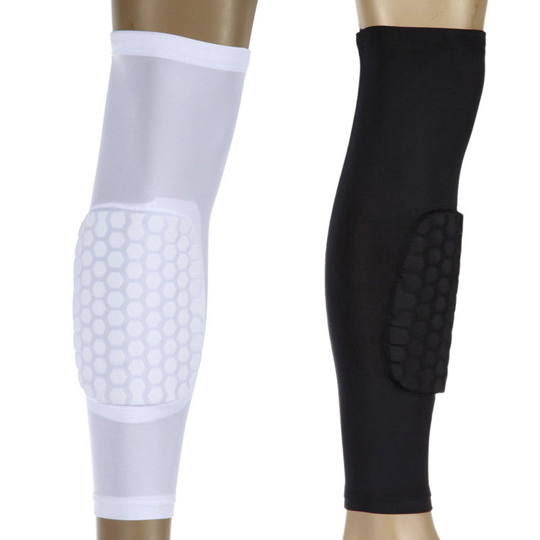 Breathable Honeycomb Knee Sleeve Basketball Long Kneepad Cycling Running Calf Compression Protector Guad Perneras Ciclismo