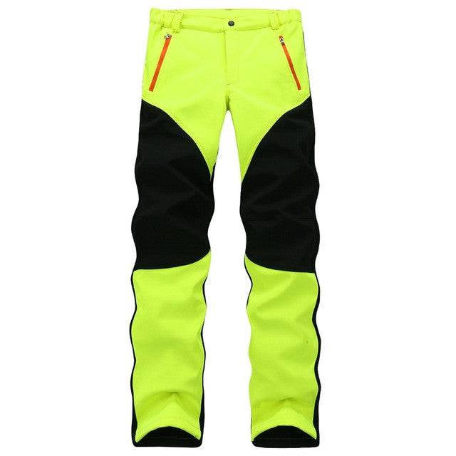 LumiParty Bingirl Softshell Pants Men Breathable Thermal Waterproof Pants Women Outdoor Sport Camping Pants Fleece
