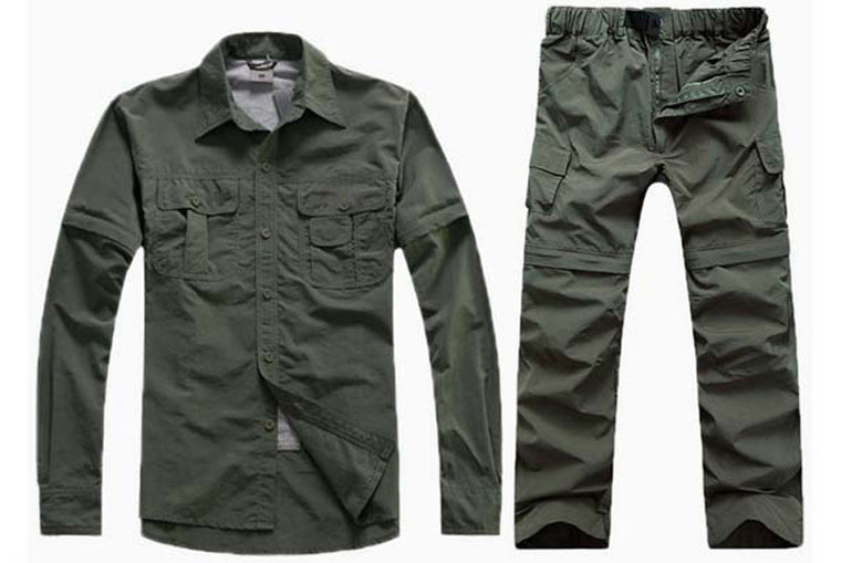 Trekking Man Summer quick dry shirt Hiking pant suit Men Fishing Sport camping Breathable Shirt Climing Trousers Shirt+Pant S20