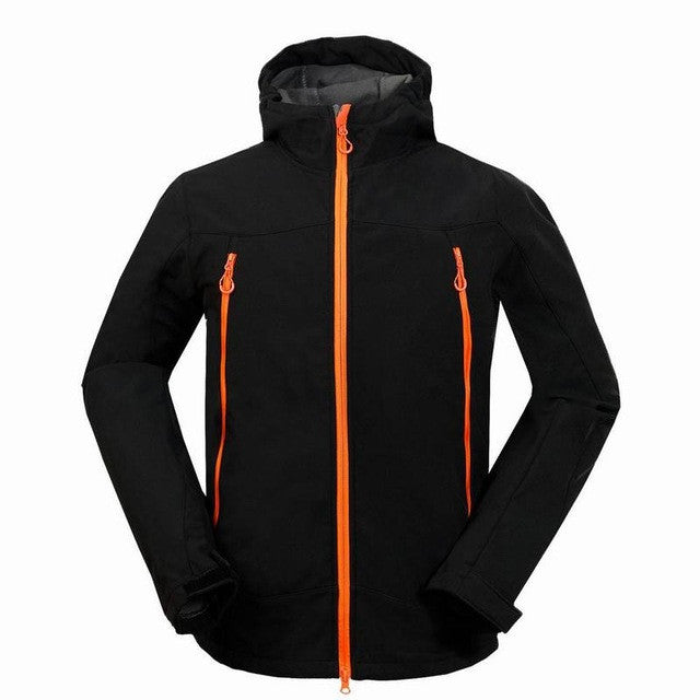 Winter and Spring Men Outdoor Sports Recreational Soft Shell Clothing Windproof Waterproof Warm Ski Wear Mountaineering Camping