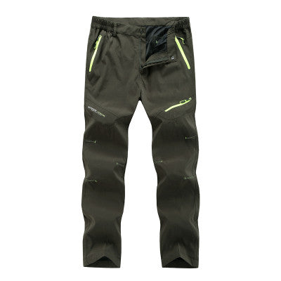 Summer Thin Hiking Pants Men's Trekking Pants Softshell Waterproof Outdoor Hiking Trousers Camping Breathable Slim Hiking Pants