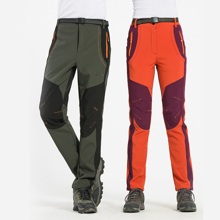 3edb3f4546 The new autumn and winter outdoor sports men and women soft shell pants  Trousers warm waterproof
