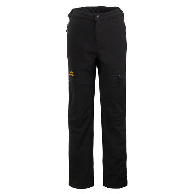 Men's Outdoor Waterproof Pants Soft Shell Camping Hiking Golf Outdoor Sports Warm Fleece long Pant