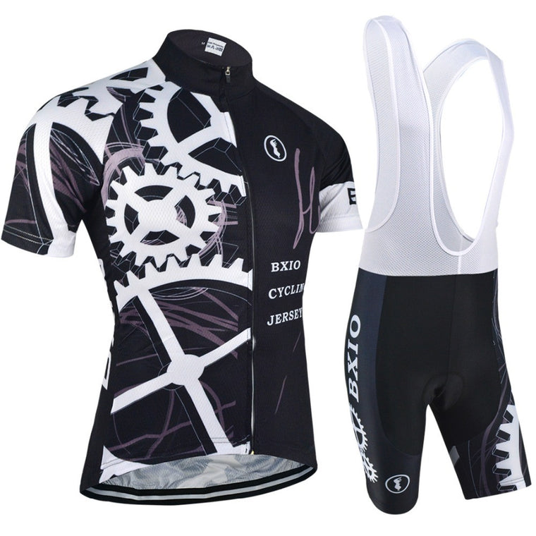 BXIO Hot Cycling Jersey Set Men Equipo De Ropa Ciclismo Mujer Pro Mountain Bike Bicicleta Short Sleeve Summer Bicycle Clothing