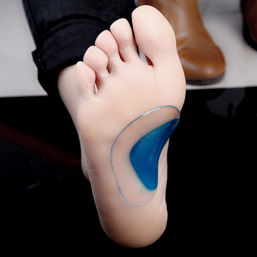 Blue Soft Silicone Insoles Child Orthotic Insole Pad Infant Arch Support Baby Flatfoot Corrector Orthopedic Arch Support Insoles
