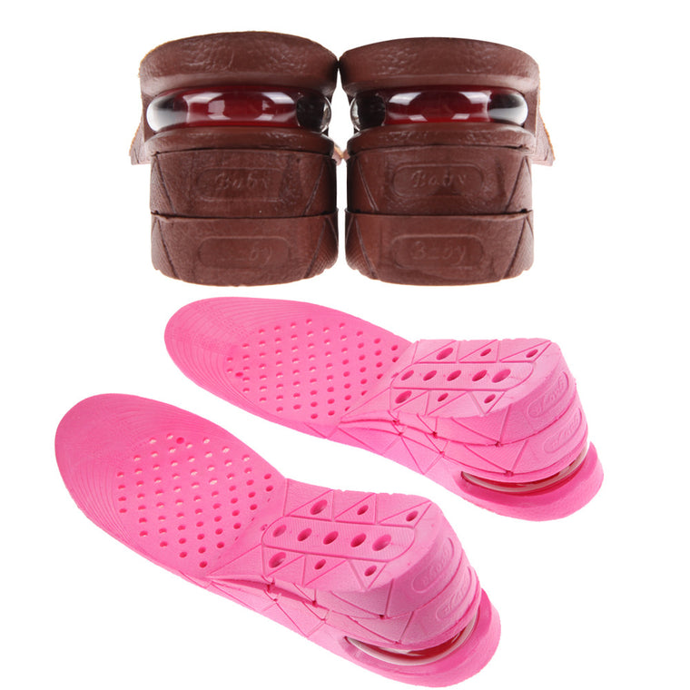 1 Pair Shoe Insole 7cm Height Shoe Insole 3-Layer Air Cushion Heel insert Increase Taller High Tops EA14