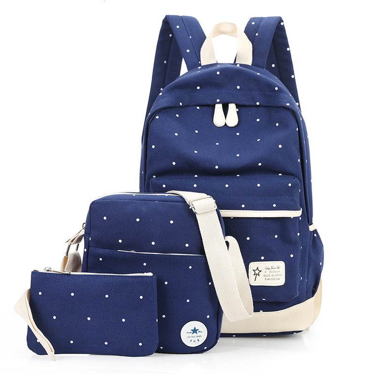 New School Bags Travel Students Bags Canvas Backpack Women Shoulder Bags Campus Bag Jacquard Preppy Style Softback
