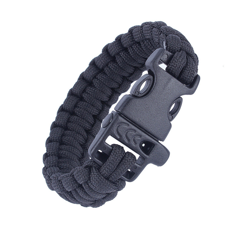 Outdoor Sports Paracord Utility Tactical Airsoft Wrist Band Bracelet Braided Hunting Camping Hiking Paracord Lifesaving Whistle