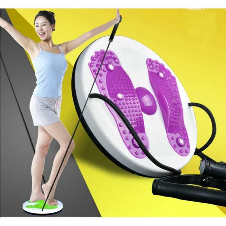 Twister Plate Twist Board Magnet Waist Wriggled Wriggling Plate Twisting Disk With Cord Waist Arm Exercise  Fitness Equipment