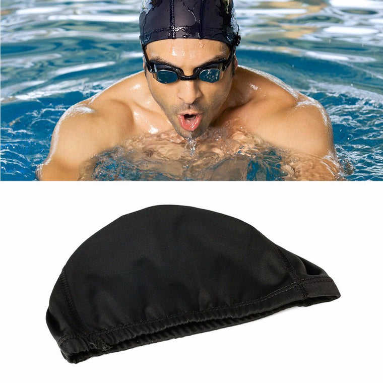Men Women Durable Flexible Sporty Polyester Swimming Swim Cap Bathing Hat Unisex