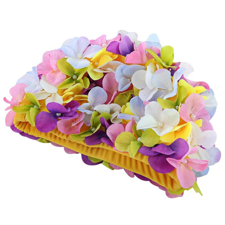 Personalized Three-dimensional Petal Swimming Caps For Long Hair Outdoor 5 Colors Women Flowers Design Cap Delicate Swimming Cap