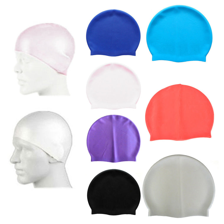 New Unisex Latex Swim Cap Hat 1 Size Fits All Waterproof Shower Bath Hat 1PC Swimming Pool Cap