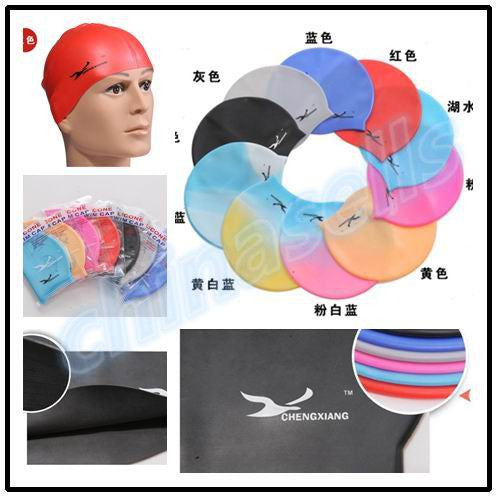 adult adolescent Silicone swimming cap swimming hat hair cap waterproof silicone swimming cap