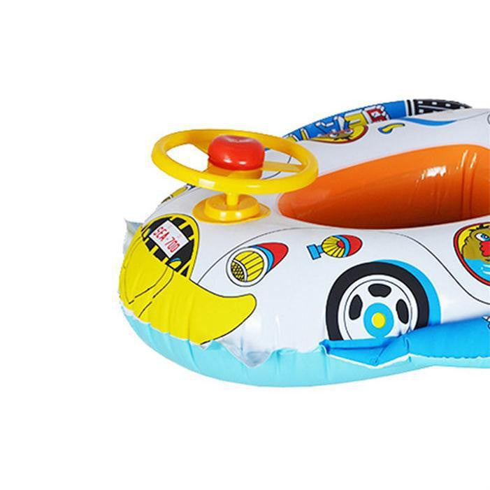 New Safe Cartoon Baby Swimming Seat Ring Inflatable Car Style Pool Float Boat Children Kids Swim Ring