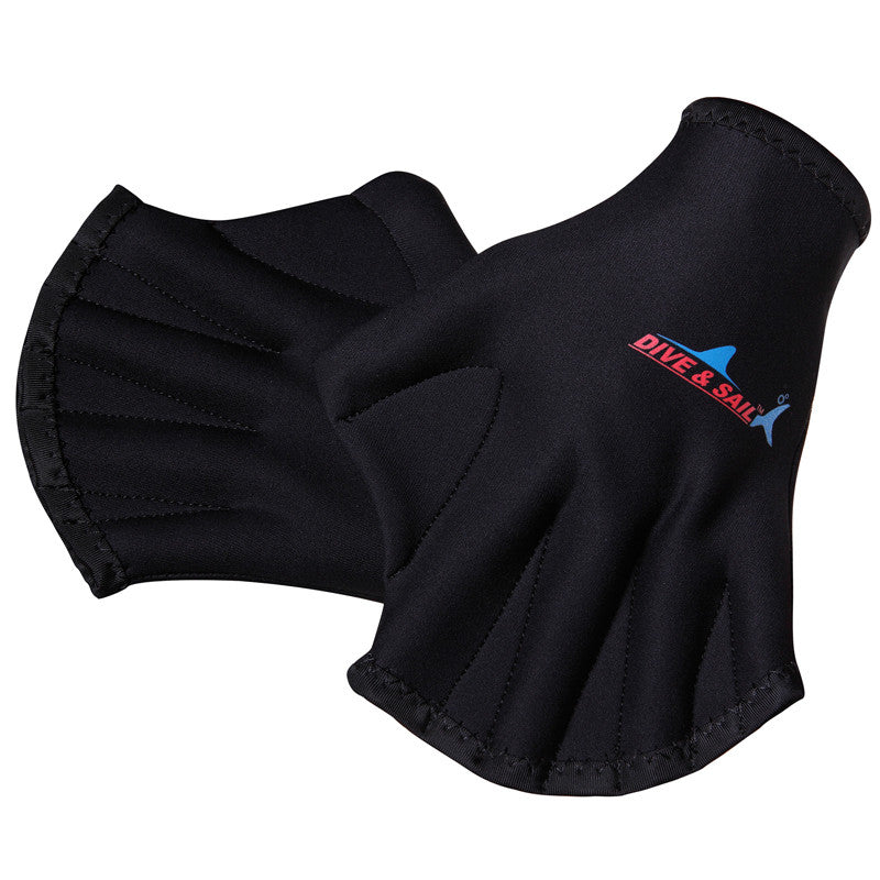Free Shipping  New Silicone 2MM Swimming Web Swim Gear Fins Hand Flippers Training Glove swimming gear 2MM swimming glove