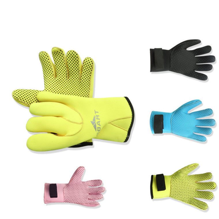 New 4 Colors Adult Winter Swimming Snorkeling Equipment 3MM Thick Type Wear Slip Warm Diving Gloves