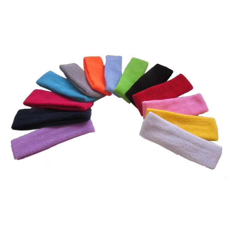 High Quality Cotton Sports Sweat Headbands For Men Women Tennis Badminton Yoga Gym Basketball Hair Bands Sweatband