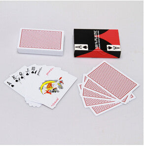 Poker 100% Plastic playing cards Blue and Red Poker Cards Texas Holdem Playing Cards Plastic PVC Waterproof Card Games