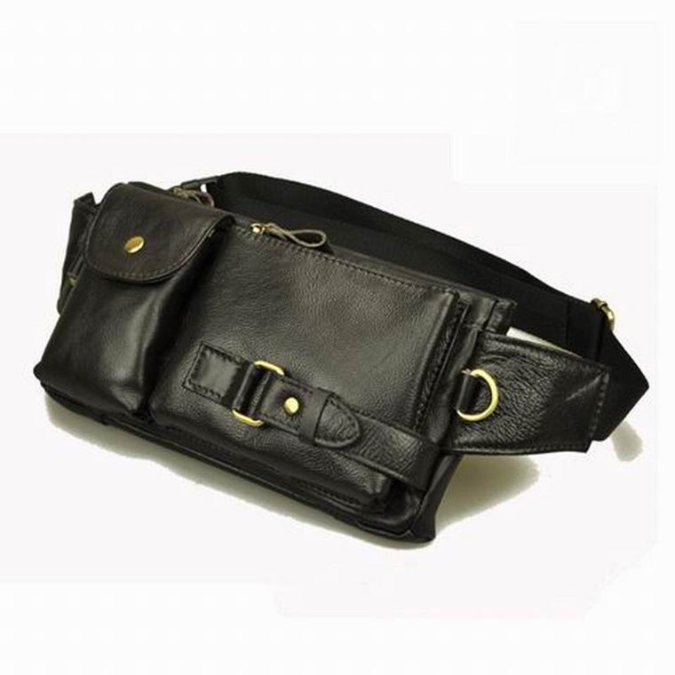 Vintage waist packs bolsas couro genuine leather fanny pack Fashion man small travel waist wallet bags for men waist bags