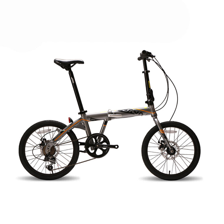 JAVA 20-inch Aluminum Alloy Folding Bike 7-Speed Dual-Disc Unisex Mini Bike 5 Colors Can Choose