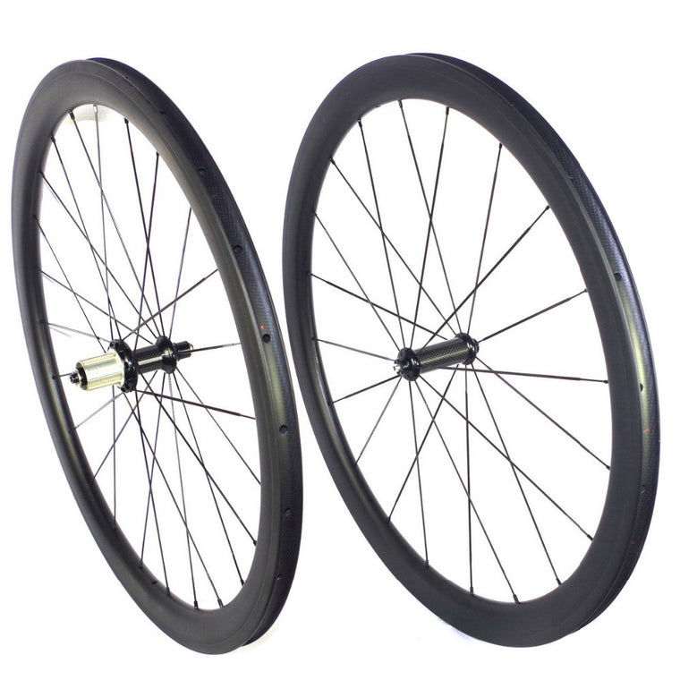 700C Road carbon wheels 35mm depth 25m width U shape clincher carbon wheelset  tubular carbon road wheels