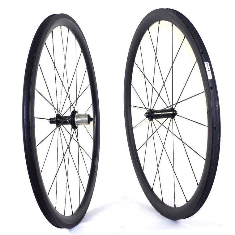 Custom logo 38mm Clincher carbon wheels 700C road bike full carbon wheelset width 23mm 25mm bicycle wheels