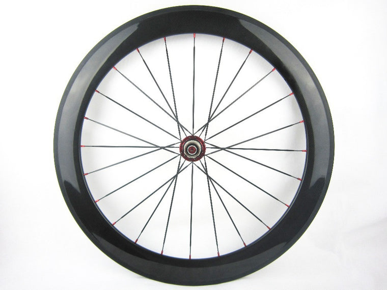 Carbon Bike Rear Wheel Back Wheel 60mm Clincher 700c Carbon Road Cycle Wheel Powerway R13 Hub Fast Ship