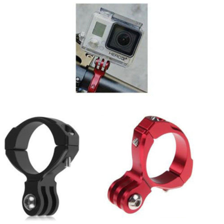 Black Red Motorcycle Bicycle Bike Cycle Aluminum Handlebar Bar Clamp Mount Tripods For Gopro Hero 1/2/3/3+ Camera Accessories