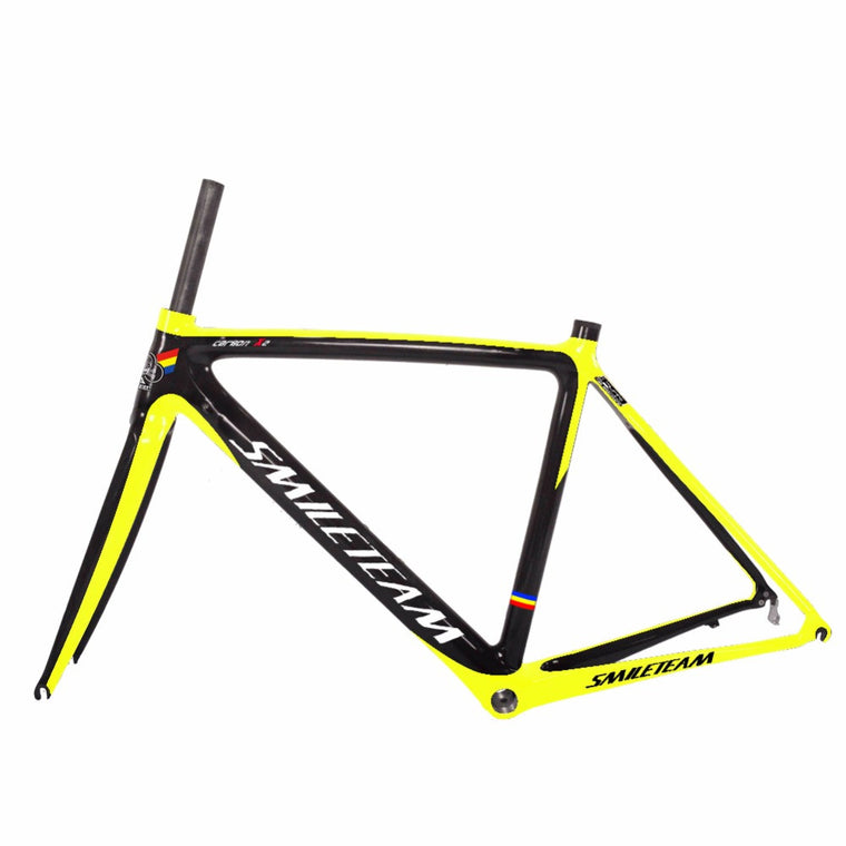 Smileteam More Customized Color Chinese Cheap RoadCarbon Bicycle Frame Bike Racing Carbon Frames Free Shipping by EMS