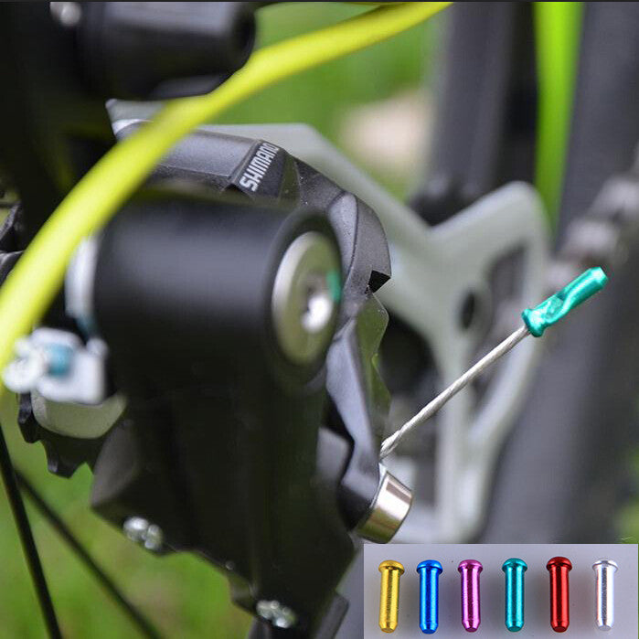 8pcs Brake Wire End Cap Cable Parts Aluminum MTB Bicycle Bike Line Core Cap Cover Gear Shift Brake