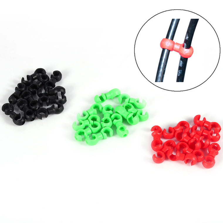 10Pcs/Lot MTB Bike S-style Clips Buck Holes Brake Gear Bicycle Cable Housing Guides Bike Cable Clip Guides Bicycle Accessories