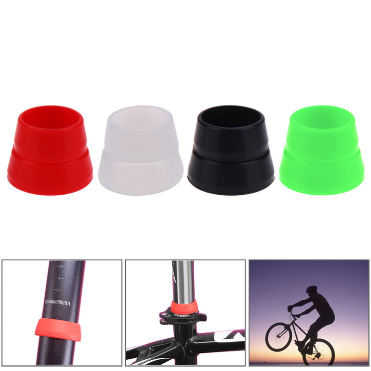 2pcs 33.8mm +38.2mm Silicone Rubber Mountain Bike Seat Post Ring Waterproof Bicycle Seatpost Protective Rings Size Bike Parts