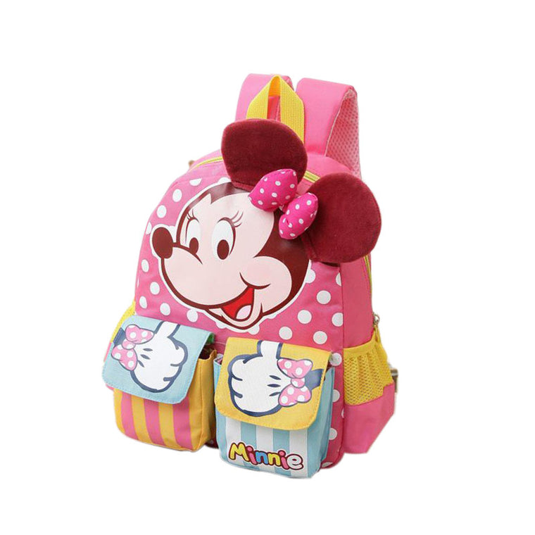 eb41a68ee44 Minnie Mouse Backpack for Boys Girls Schoolbag for Teenagers Cartoon Print Children  School Bag for Students