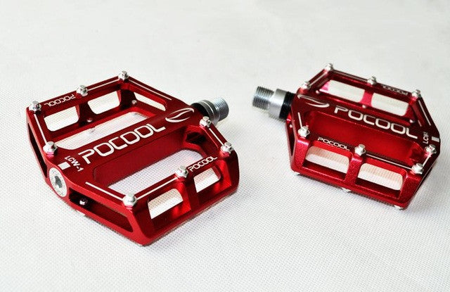 POCOOL LCW-1 Alloy MTB Road bicycle pedals Mountain bike CNC Sealed bearing double Bearing pedals outdoor professional bearing
