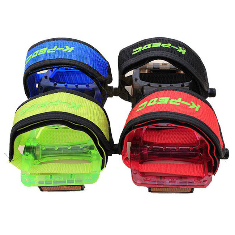 Bike Accessories Fixed Gear Fixie BMX Bike Bicycle Double Adhesive Straps Pedal Toe Clip Strap Belt Pedal Protective Belt