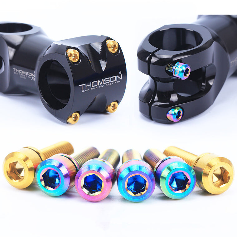 Risk titanium M5 * 18 mm mtb bike stem bolts for Fsa and Thomson bicycle stem 6 piece / lot