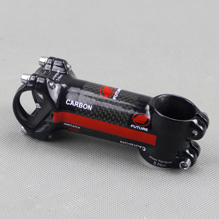 future carbon fiber highway bicycle stem fit mtb road bike mountain bike parts 60-130mm 3k finish Bicycle Accessories red stem