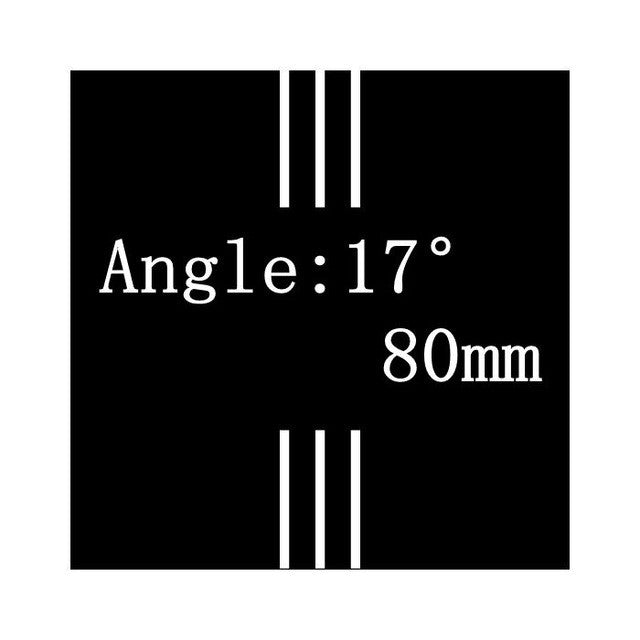 NO LOGO Angle 6/17 Degrees 31.8mm 3K Matte Full Carbon Fiber stem Road/MTB Bicycle Parts 60/70mm 80mm/90mm/100mm/110mm/120/130MM