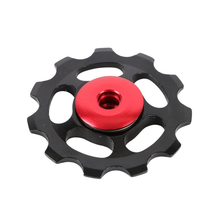 Bicycle Rear Derailleur Aluminum 11T MTB Road Bike Bicycles Rear Derailleur Pulley Roller Idler Bearing Jockey Wheel Parts